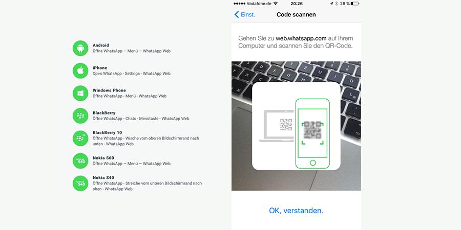 WhatsApp Web: Nun auch für iOS-Nutzer verfügbar