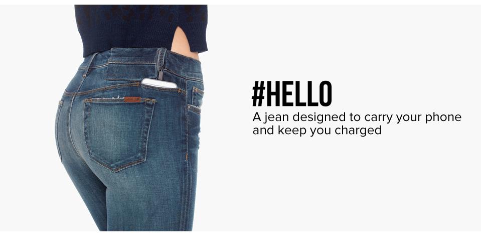 Joe's #Hello-Jeans: Damenhose lädt das Smartphone mit integriertem Akku