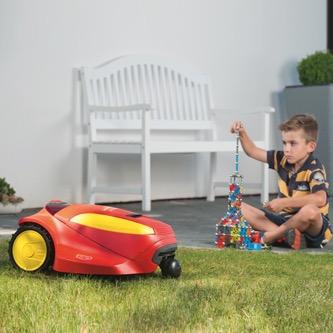 Viele Sicherheitsmerkmal sind im Rasenroboter integriert – beispielsweise ein Hebe- und Kippsensor.