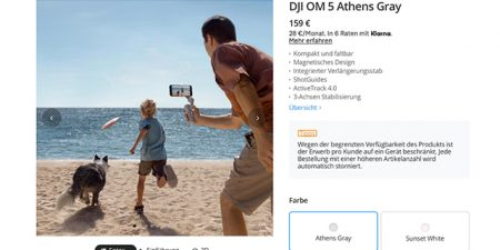 DJI OM 5: Smartphone-Gimbal mit neuem Teleskop-Selfie-Stick
